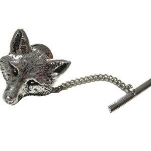Pewter Fox Head Tie Tack